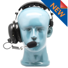 Over the head single muff headset with adjustable noise cancelling metal boom MIC (HS1)