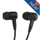 SnapLock Black Covert Dual Earbud Earpiece