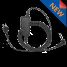 1 Wire SnapLock Base with Plug with inline PTT / Mic (SL1W-SONIM)
