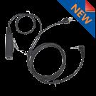 2 Wire SnapLock Base with Plug with inline PTT / Mic (SL2W-SONIM)