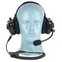 PTT & Volume Control on Dual Muff Headset - Noise Cancelling Boom Mic (HS8)