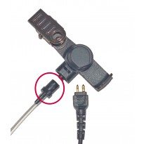 Acoustic Tube to Clip Connector - Black