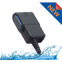 1 Wire Waterproof CHOICE (Tier 1)  PTT/Mic. with Active Mic. Detection 3.5mm Audio Port & Wireless PTT Capable (C+WWPTT)