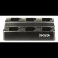 6 BANK SQUARE CHARGER for Vertex Universal V132LI, V133LI, V134LI, V130LI Batteries