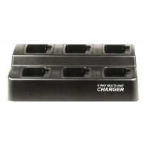 6 BANK SQUARE CHARGER for Motorola CP200, NNTN4497, 4851, 4970 Batteries