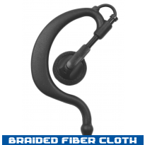 Ear Hook - Braided Fiber Cloth - 1 Wire (EH+1W)