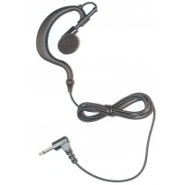 Braided Fiber Cloth Receive Only Ear Hook earpiece 3.5mm  35 inches (EH+ROS90-3.5)