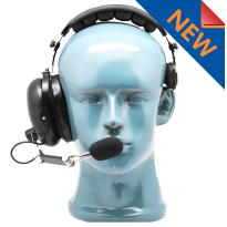 Over the head single muff headset with adjustable noise cancelling metal boom MIC with David Clark Pinout (HS1-DC)