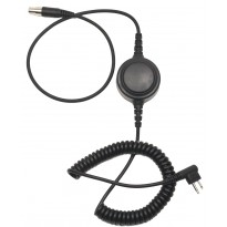 Detachable coil cable w/inline PTT for HS1, HS3 & HS5 Headset (HS5-CAB)