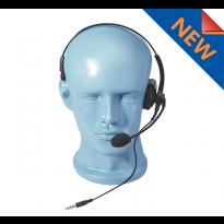 Lightweight Single Muff adjustable Headset w/ boom Mic. 3.5mm (HSS-3.5)