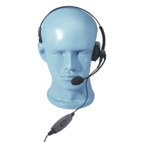 Lightweight Single Muff Adjustable Headset with Boom Mic & Inline PTT  (HSS)