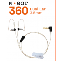 "N-ear 360 earpiece DUAL - Straight 24"" - 3.5mm connector (N-RO-360-24-3.5GD(O))"