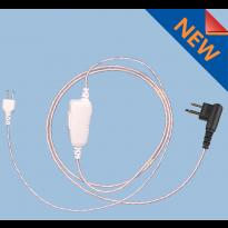1 Wire White SnapLock PTT/Mic.  (SL1WW)