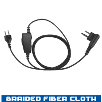 SnapLock Earpiece Base - Braided Fiber Cloth - 1 Wire (SL+1W)