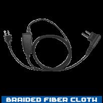 SnapLock Earpiece Base - Braided Fiber Cloth - 1 Wire (SL+1W)
