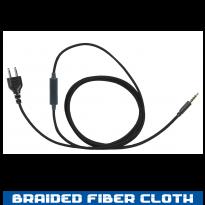 SnapLock Base -Braided Fiber Line - inline Mic. 3.5 Full Duplex