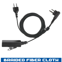 SnapLock Base    -  Braided Fiber Cloth  -  2 Wire  - Noise Cancelling (SL+2W)