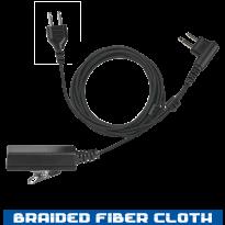 SnapLock Base - Braided Fiber Cloth  -  2 Wire  - Noise Cancelling (SL+2W)